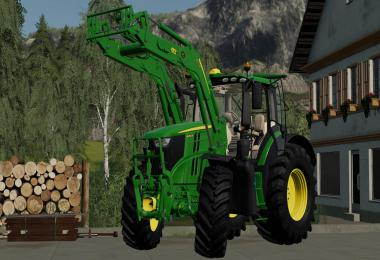 John Deere 6R Series with 643R front loader v1.0