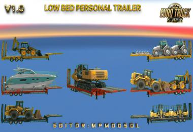 Low Bed Personal Trailer Mod For ETS2 Multiplayer v1.0