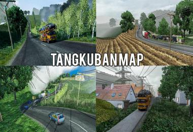 Most Crazy Roads Map Mod  [Tangkuban Map] ETS2 1.38