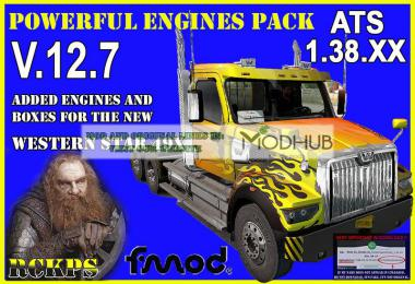 Pack Powerful engines + gearboxes v12.7 for ATS 1.38.x