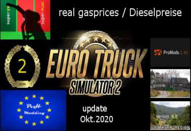 Real gasprices/Dieselpreise update okt 20 v6.1