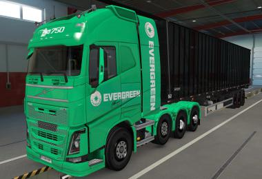 SKIN VOLVO FH16 2012 8X4 EVERGREEN GREEN 1.39