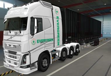SKIN VOLVO FH16 2012 8X4 EVERGREEN WHITE 1.39