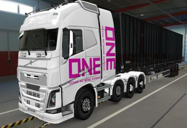 SKIN VOLVO FH16 2012 8X4 ONE WHITE 1.39