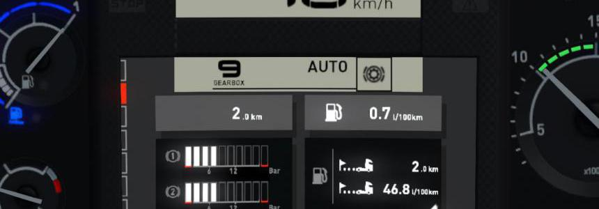 Renault T Realistic Dashboard Computer 1.39