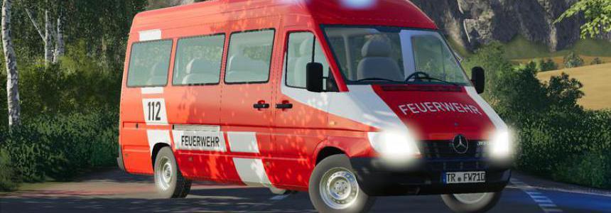 Mercedes Sprinter W904 fire brigade and civil v1.1
