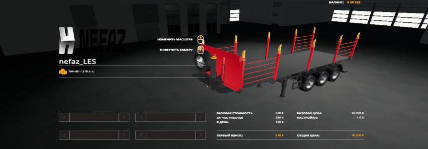 Semi-trailer NEFAZ timber truck v1.0.0.0