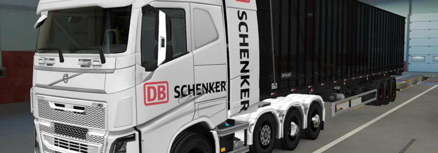 SKIN VOLVO FH16 2012 8X4 DB SCHENKER 1.39