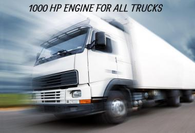 1000 HP Engine For All Trucks v2 ETS2 1.39