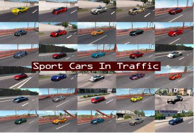 Sport Cars Traffic Pack (ATS) by TrafficManiac v7.5