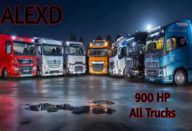 900 HP ENGINES FOR ALL TRUCKS v1.8 1.39.x