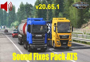 [ATS] Sound Fixes Pack v20.65.1 1.39