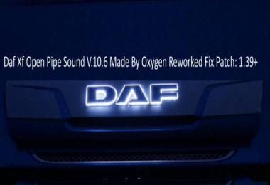 Daf Xf Open Pipe Sound Reworked Fix v10.6
