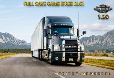 Full Save Game ATS 1.39 (Free DLC) MpModsDL