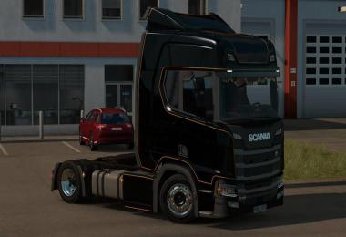 Low deck chassis addon for Scania S&R Nextgen by Sogard3 v2.0