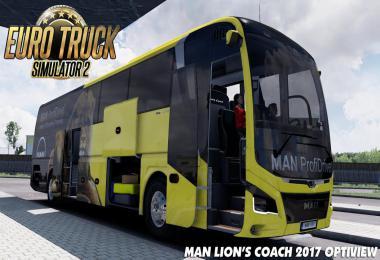 Man Lions Coach 2017 Optiview Bus + Interior v1.1