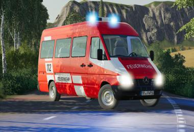 Mercedes Sprinter W904 fire brigade and civil v1.1