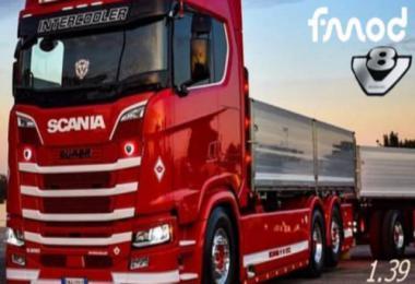 Real Sound Scania S520 V8 2020 v1.0