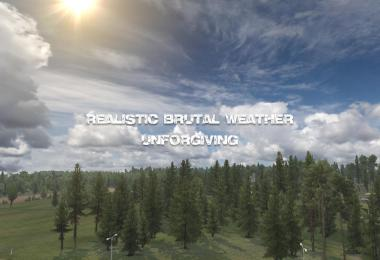 Realistic Brutal Weather Unforgiving ATS V1.0 1.38-1.39