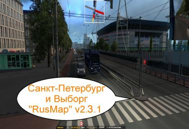 RUSMAP v2.3.1 Addon: St. Peterburg and Vyborg v2.5 1.39.x