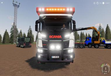 Scania XT 8x8 Flat Bed v1.1