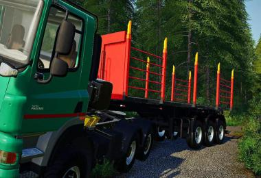 Timber transport semi-trailer v1.0