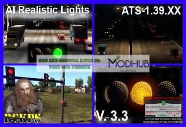 AI Realistic lights v3.3 For ATS 1.39.x