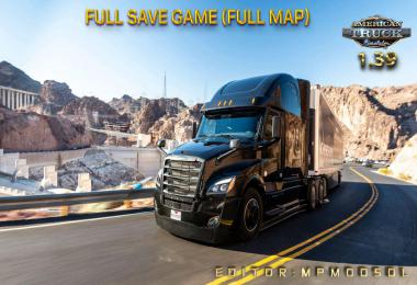 Full Save Game ATS 1.39 (Full Map) MpModsDL