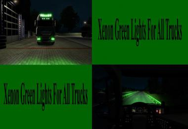 Green Xenon Lights for all Trucks v1.0