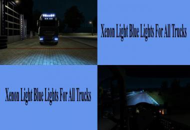 Light Blue Xenon Lights for all Trucks v1.0