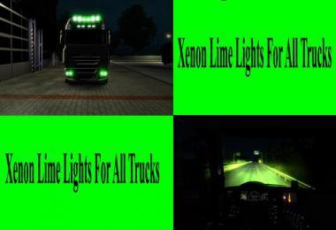 Lime Green Xenon Lights for all Trucks v1.0