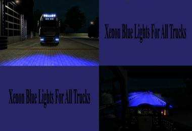 Marine Blue Xenon Lights for all Trucks v1.0