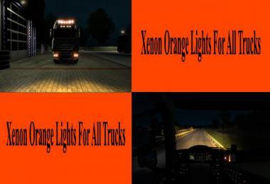 Orange Xenon Lights for all Trucks v1.0