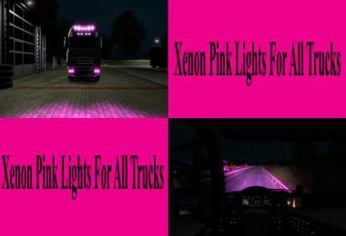 Pink Xenon Lights for all Trucks v1.0