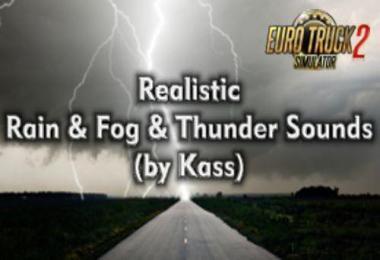 Realistic Rain & Thunder Sounds ETS2 v3.8