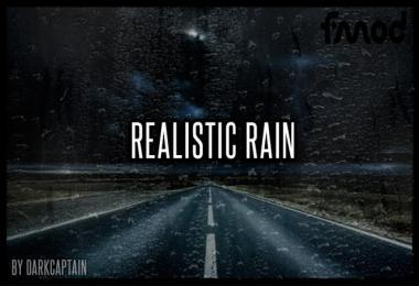 Realistic Rain v3.8 ETS2 1.39