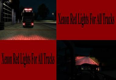Red Xenon Lights for all Trucks v1.0