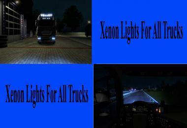 Standard Xenon Lights for all Trucks v1.0