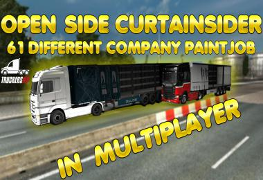 Open Side Trailer For Multiplayer 61 different company paints v0.1