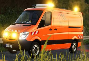 Building yard Geldern Sprinter with warning cross v1.0