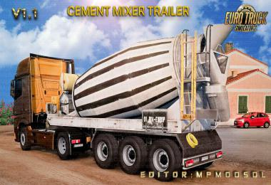 Cement Mixer Trailer Mod For ETS2 Single-Multiplayer v1.1