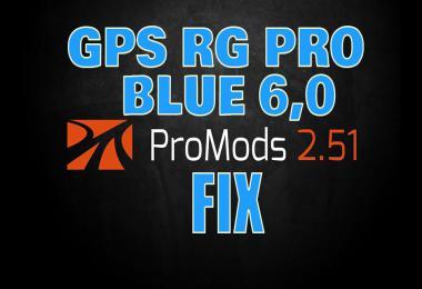 GPS RG PRO BLUE Promods FIX v6.0