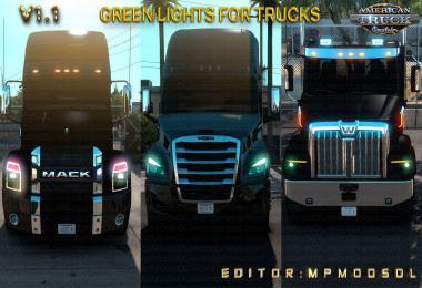 Green Lights For Trucks Mod For ATS Single-Multiplayer v1.1