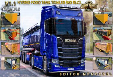 Hybrid Food Tank Trailer Mod For ETS2 Single-Multiplayer No DLC v1.1