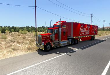 Kenworth W900 + scs box - Coca Cola Christams Truck 1.39
