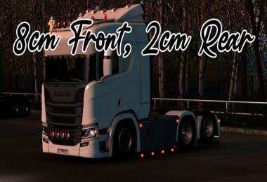 Lowered chassis for Scania PGRS (2-8cm) 1.39