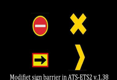 Modified Barrier Signs for ETS2 1.39