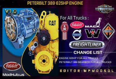 Peterbilt 389 625HP Engine For All Trucks Mod For ATS Multiplayer 1.39