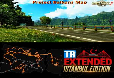 TR Map v1.1.1 - Project Balkans v5.0 Road Connection 1.39.x