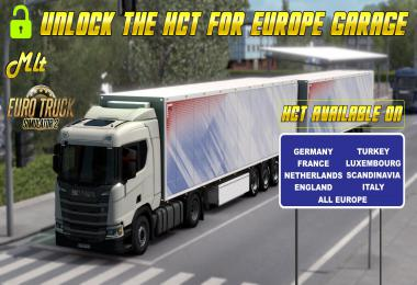 UNLOCK THE HCT FOR EUROPE GARAGE by MLT v0.1